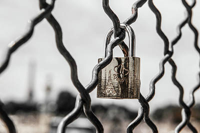 Photograph - Locked In Paris by Helen Northcott