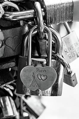 Photograph - Locked In Paris V by Helen Northcott