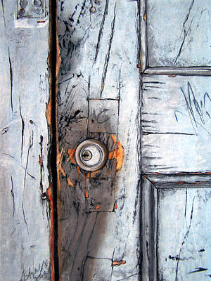Door Painting - Locked by Leyla Munteanu