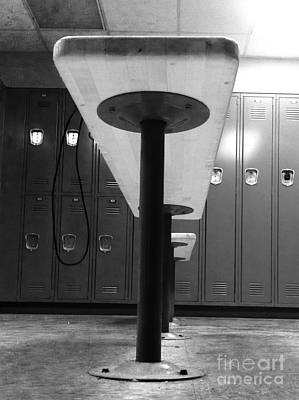 Photograph - Locker Room Bench  by WaLdEmAr BoRrErO