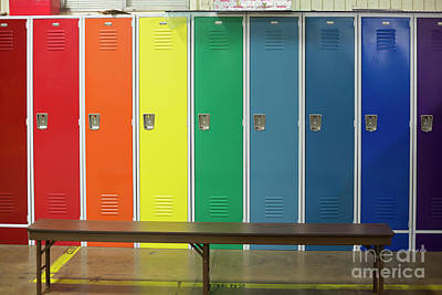 Photograph - Lockers by Jim West