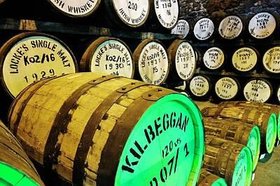 Anne Geddes Large Format Polaroids - Lockes and Kilbeggan Irish Whiskey at Lockes Distillery in Westmeath town of Kilbeggan, Ireland     by David Lyons