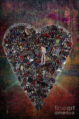 Digital Art - Locket Heart-2 by Gina Geldbach-Hall
