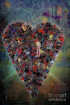 Digital Art - Locket Heart-6 by Gina Geldbach-Hall