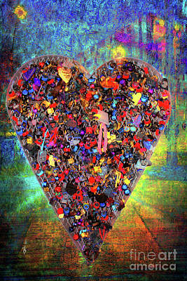 Digital Art - Locket Heart by Gina Geldbach-Hall