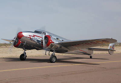 Casa Grande Photograph - Lockheed 12a Electra Junior Nc18906casa Grande Airport Arizona March 5 2011 by Brian Lockett