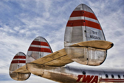 Aeronautics Photograph - Lockheed Constellation by Carol Leigh