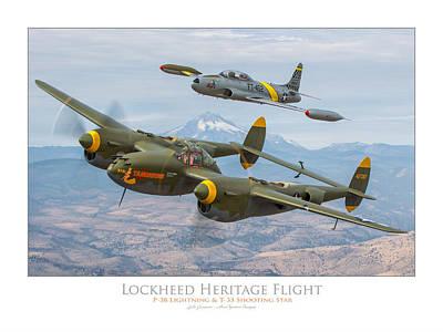 Photograph - Lockheed Heritage Flight by Lyle Jansma
