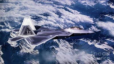 Digital Art - Lockheed Martin F-22 Raptor by Roger Lighterness