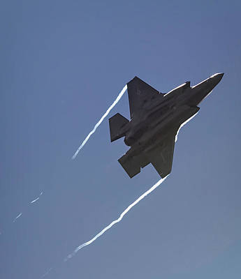 Photograph - Lockheed Martin F-35b Lightning II by Shirley Mitchell