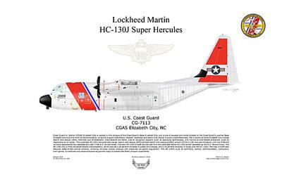 Digital Art - Lockheed Martin Hc-130j Super Hercules by Arthur Eggers