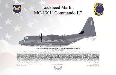 Digital Art - Lockheed Martin Mc-130j Commando II 67sos by Arthur Eggers