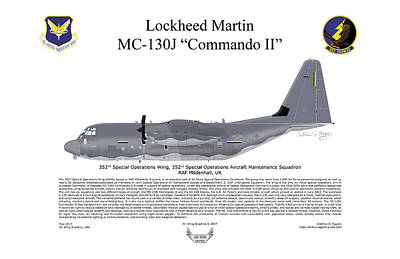 Digital Art - Lockheed Martin Mc-130j Commando II by Arthur Eggers