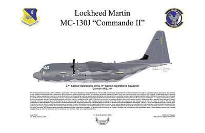 Lockheed Mc-130j Commando II Art Print