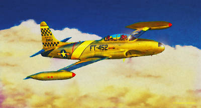 Digital Art - Lockheed T-33 by Douglas Castleman