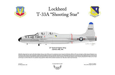 Lockheed T-33a Shooting Star Art Print