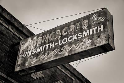 Locks And Guns Art Print