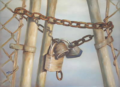 Painting - Locks by Diane  DiMaria
