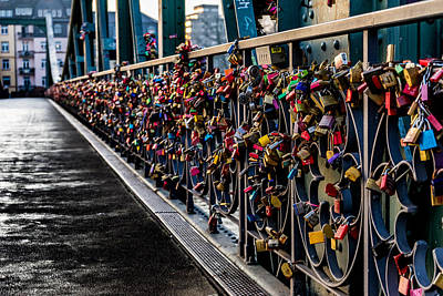 Locks Of Lock Bridge Art Print