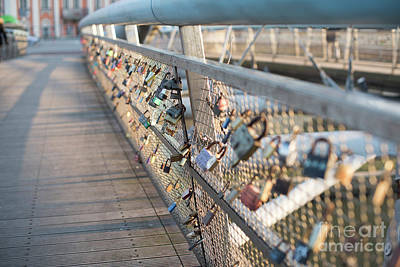 Photograph -  Locks Of Love On Bridge In Krakow, Poland by Juli Scalzi