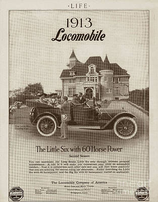 Photograph - Locomobile Advertisement by Cole Thompson