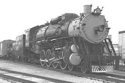 Photograph - Locomotive 1519 - Grainy - Bw by Pamela Critchlow