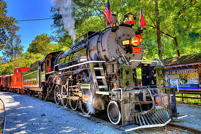 Photograph - Locomotive 1702 by Bluemoonistic Images