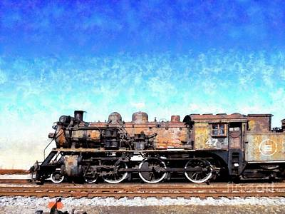 Photograph - Locomotive #47 Going Down The Railroad Tracks by Janine Riley