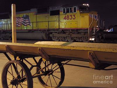 Photograph - Locomotive And Baggage Cart by James B Toy