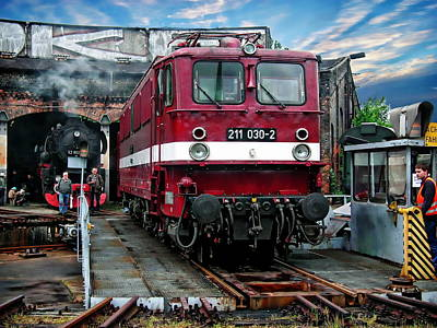Photograph - Locomotive And Diesel Engine by Anthony Dezenzio