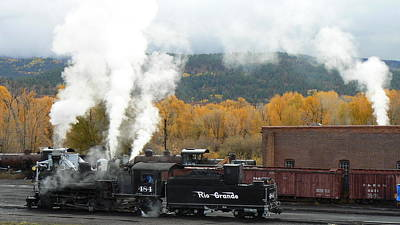 Locomotive At Chama Art Print