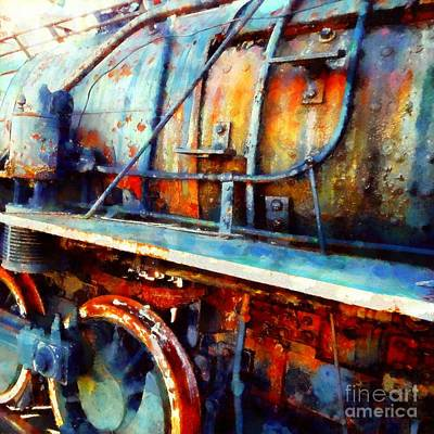 Photograph - Locomotive Blues - On The Move by Janine Riley