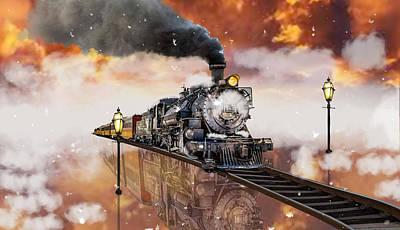 Mixed Media - Locomotive Breath Railway by Marvin Blaine