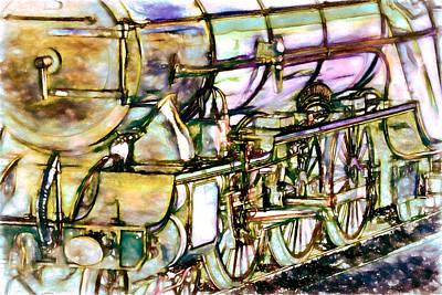Locomotive Four Art Print