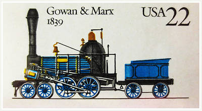Marx Painting - locomotive Gowan And Marx by Lanjee Chee