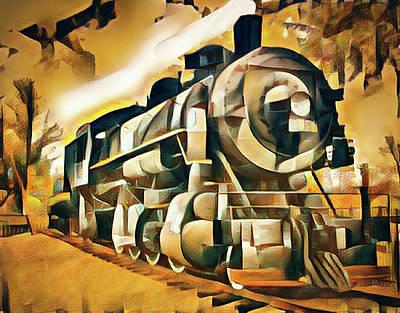 Mixed Media - Locomotive Love by Joseph Hollingsworth