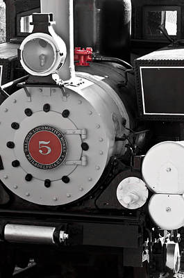 Photograph - Locomotive Number Five by Colleen Coccia