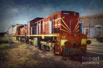 Photograph - Locomotive by Stuart Row
