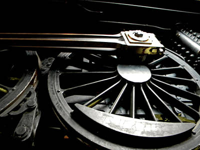 Western Art - Locomotive Wheel by Phillip W Strunk