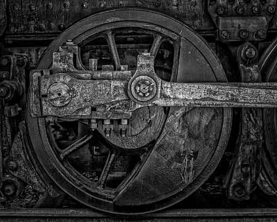 Canon 6d Photograph - Locomotive Wheel by Thomas Hall