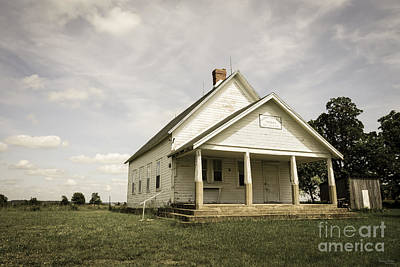Photograph - Locust Prairie One Room School Aged by Jennifer White