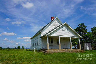 Photograph - Locust Prairie One Room School by Jennifer White