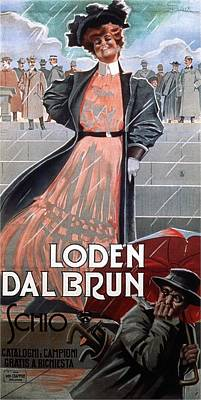 Royalty-Free and Rights-Managed Images - Loden Dal Brun Schio - Woman in Pink Dress - Vintage Advertising Poster by Studio Grafiikka