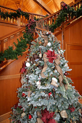 Photograph - Lodge Lobby Tree by Ginny Barklow