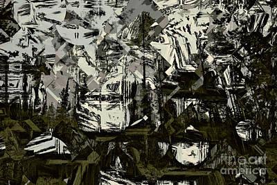 Lodgepole Pine Cubism  Art Print
