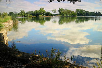 Photograph - Lodi Lake Cloud Reflections by Joyce Dickens