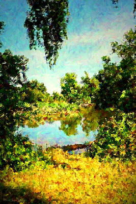 Photograph - Lodi Lake Digital Painting by Joyce Dickens