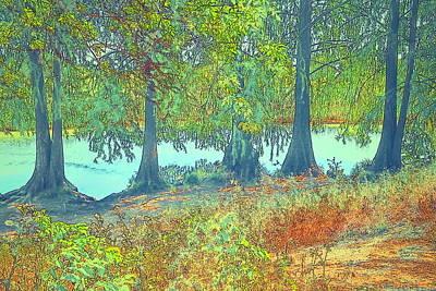 Photograph - Lodi Lake Sentinels Watercolor by Joyce Dickens