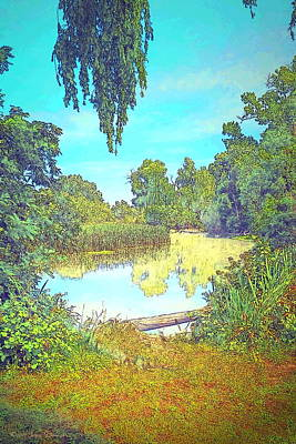 Photograph - Lodi Lake Watercolor by Joyce Dickens