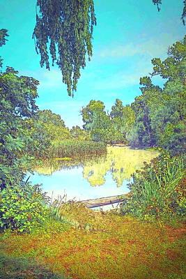 Photograph - Lodi Lake Watercolor by Joyce Dickens